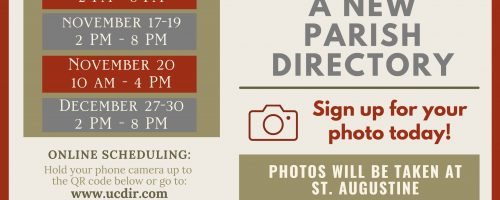 New Printed and Online Parish Directory Coming Soon!